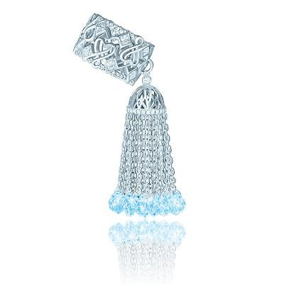 Золотое кольцо с кисточкой и топазами KOJEWELRY™ 5060