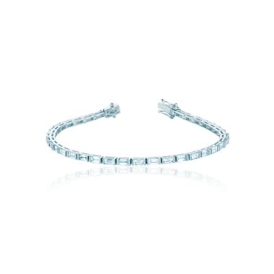 Браслет Tennis buguette серебро 925 белый KOJEWELRY™ 50100