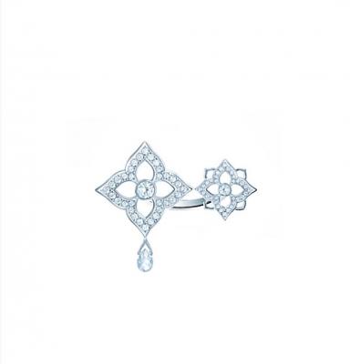 Кольцо Two flowers Гортензия серебро 925 KOJEWELRY™ 61300
