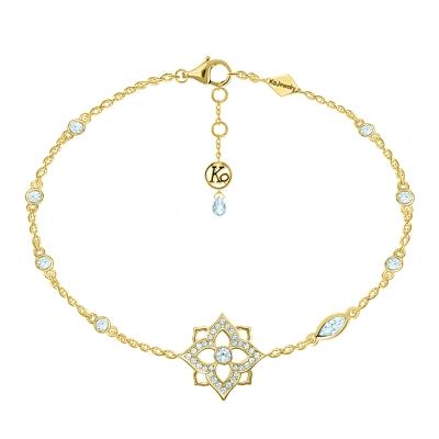 Браслет на ногу HYDRANGEA «One flower»  серебро 925  KOJEWELRY™  60510Y