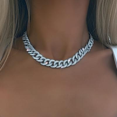 Колье PAVE CHAINS 12mm серебро 925 KOJEWELRY™ 20100