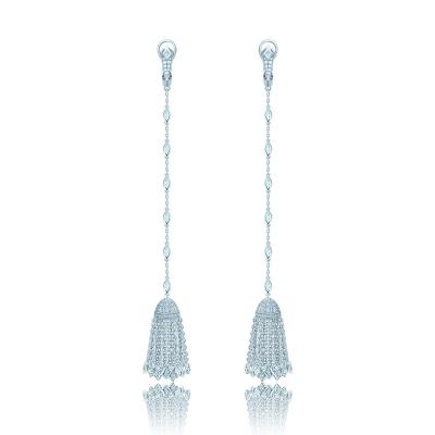 Серьги Кисточки с ромбиками, серебро 925 KOJEWELRY™ 41700