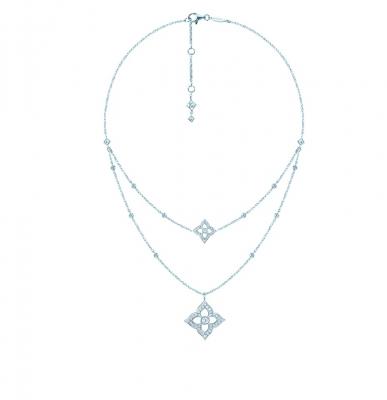 Двойное колье HYDRANGEA серебро 925 by KOJEWELRY™ 64400