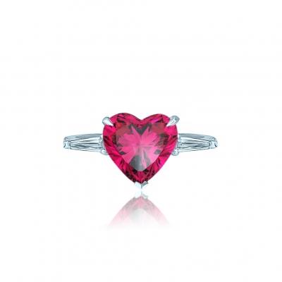 Кольцо Heart Mini цвета рубин KOJEWELRY™ 31106