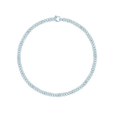 Колье Pave Chains 5mm без вставки серебро 925 by KOJEWELRY™ 21100