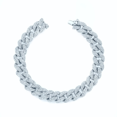 Браслет Pave links 10 mm серебро 925 by KOJEWELRY™ 21300
