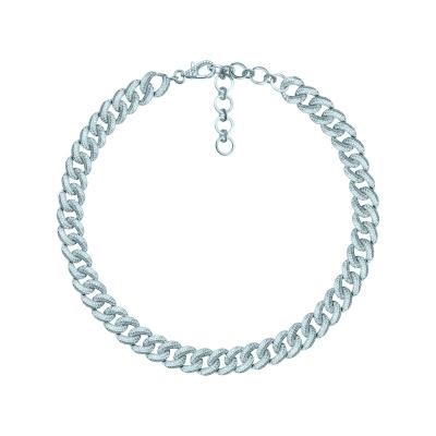 Колье Pave Chains 10mm без вставки серебро 925 by KOJEWELRY™ 21500
