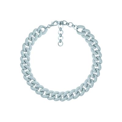 Колье Pave Chains 15mm без вставки серебро 925 by KOJEWELRY™ 21600