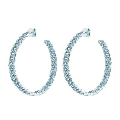 Серьги-обручи PAVE CHAINS  серебро 925 KOJEWELRY™ 21700