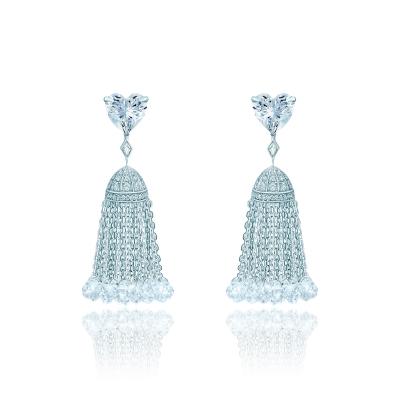 Серьги Hearts с кисточками серебро 925 KOJEWELRY™ 42600