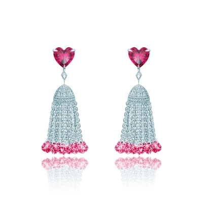 Серьги Hearts с кисточками серебро 925 KOJEWELRY™ 42606 / 3
