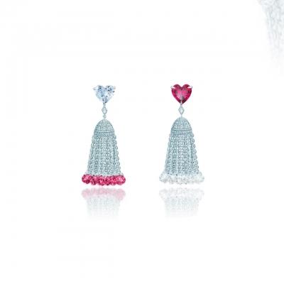 Серьги Hearts с кисточками серебро 925 KOJEWELRY™ 42706 / 3