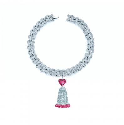 Браслет Pave chains Heart с Кисточкой 10 мм серебро 925 KOJEWELRY™