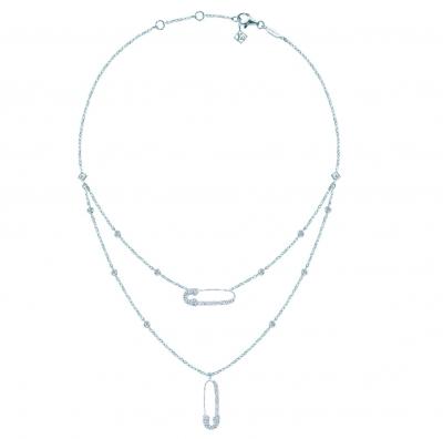 Двойное колье 2 Pins, серебро 925 KOJEWELRY™ 80400 /  10