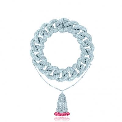 Браслет Pave Chains (15mm звено) с Кисточкой, серебро 925. KOJEWELRY ™ 610081