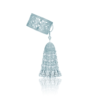 Кольцо с кисточкой с кончиками огранки капля, серебро 925. KOJEWELRY 610093