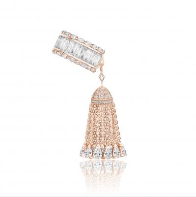 Кольцо с кисточкой с кончиками огранки капля, серебро 925. KOJEWELRY™ 610097