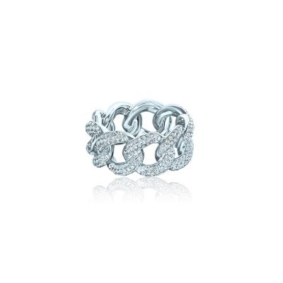Кольцо PAVE CHAINS серебро 925 KOJEWELRY™ 610144