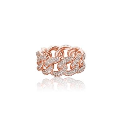 Кольцо PAVE CHAINS серебро 925 KOJEWELRY™ 610145
