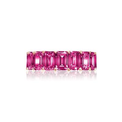 Кольцо-дорожка огранки Изумруд серебро 925 KOJEWELRY™ 30626