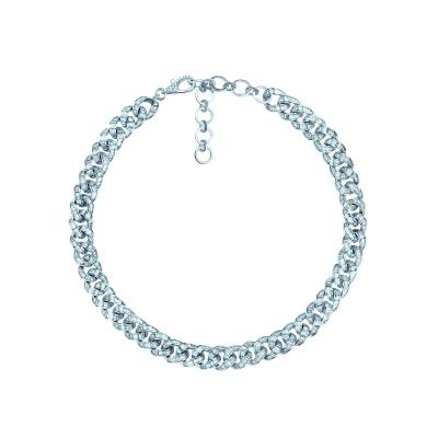 Колье BAGUETTE CHAINS 12mm серебро 925 by KOJEWELRY™ 610150