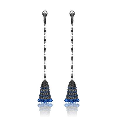 Серьги Кисточки Luxury серебро 925  KOJEWELRY™ 610154