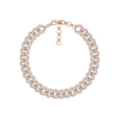 Колье Pave Chains 12mm серебро 925 by KOJEWELRY™ 610158