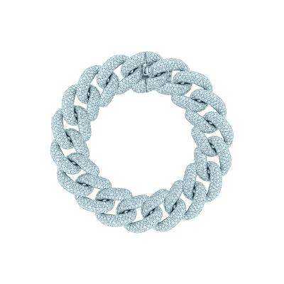 Браслет Maxi Pave links 15 mm серебро 925 by KOJEWELRY™ 22000/18