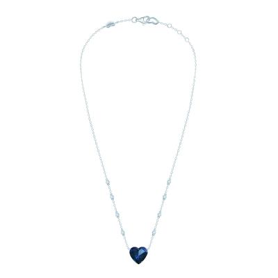 Колье Heart цвета сапфир серебро 925 KOJEWELRY™ 30307