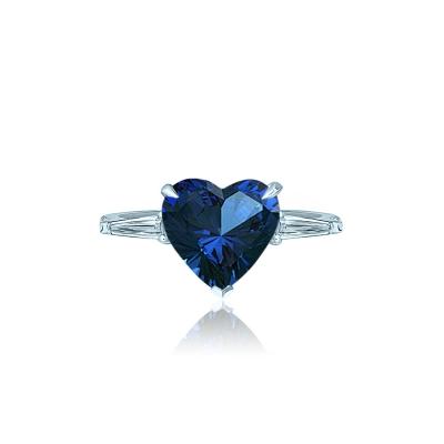 Кольцо Heart Mini цвета сапфир серебро 925 KOJEWELRY™ 31107