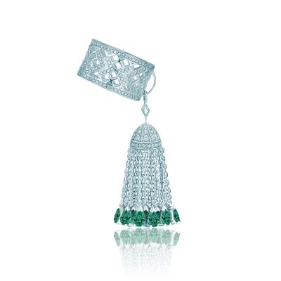 Кольцо с кисточкой с кончиками огранки капля, серебро 925 KOJEWELRY™ 610193