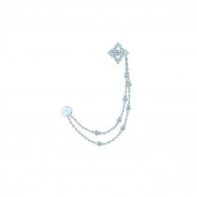 Пусеты со съёмочной каффом Гортензия (HYDRANGEA)серебро 925 610196