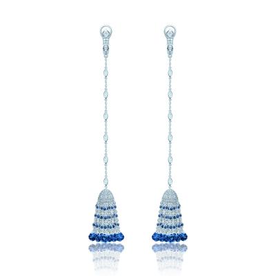 Серьги Кисточки Luxury серебро 925  KOJEWELRY™ 610219